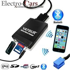 INTERFACE USB BLUETOOTH ADAPTATEUR MP3 AUTORADIO COMPATIBLE PEUGEOT 406