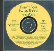 24 Italian Songs & Arias Medium Low Voice Accompaniment CD Medium Low  050483038