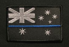 AUSTRALIAN FLAG TACTICAL POLICE USA MORALE POLICE THIN BLUE LINE IRON ON PATCH