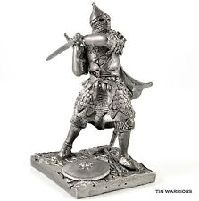 *Russian warrior* Tin toy soldiers. 54mm miniature figurine. metal sculpture