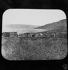 NEWTON Glass Magic Lantern Slide TIBERIAS GENERAL VIEW  c1890 ISRAEL