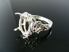 5526 RING SETTING, STERLING SILVER, SIZE 7.5, 16X12 MM OVAL STONE