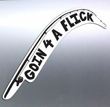 GOIN 4 A FLICK fishing rod Vinyl cut Car Boat Sticker 210x90 mm aussie going 4x4