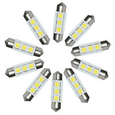 10x Lot 36mm White 5050 3 SMD LED Car Interior Festoon Dome Bulb Lamp Light 12V