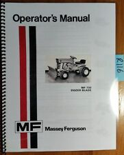 Massey Ferguson MF 730 Dozer Blade for MF 7 MF 8 Lawn Tractor Operator Manual 74