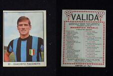 **FIGURINA PANINI CAMPIONI DELLO SPORT 1966/67** FACCHETTI - MAGLIA INTER N. 93