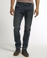 New Mens Superdry Foundry Slim Carpenter Jeans Iron Worker Blue