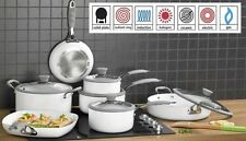 7 Piece Professional White Cookware Set - Non Stick -INDUCTION **REDUCED**