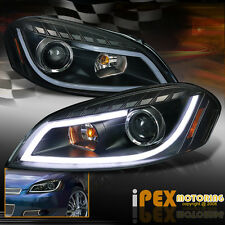2006-2013 Chevy Impala / Monte Carlo [LED Glow Strip] Projector Headlights Black