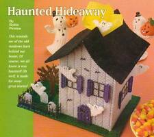 HAUNTED HIDEAWAY HALLOWEEN GHOST HOUSE PLASTIC CANVAS PATTERN INSTRUCTIONS ONLY