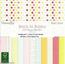 Dovecraft Back to Basics Paper - 6 x 6 Sample Pack - 12 fogli-BRIGHT SPARK