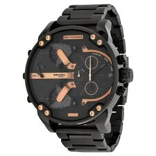 Diesel The Daddies Chronograph Four Time Zone Dial Black Ion-plated Mens Watch