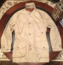 100% Authentic Ralph Lauren Mens Hunting Jacket & Leather Accents Sz Medium New
