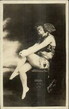 Showgirl Circus 101 Ranch Show 1925 Bell Studio New York City dcn RPPC