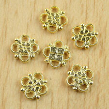40pcs Gold tone lucky knot connectors h0229