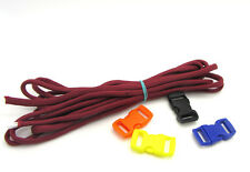 Outdoor Hiking Survival  Paracord Rope 7 Core Strand 2.4M + buckle Wine Red