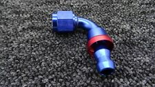 AN-6 AN6 JIC 90 Degree Swivel PUSH ON Tail Fuel Oil Braided Hose FITTING CONNECT