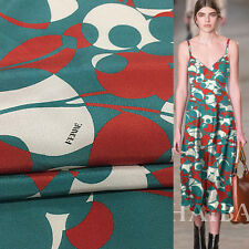 Brand remaining fabric!Abstract floral print Silk Crepe DE chine fabric,SCDC251