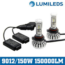9012 150W 150000LM LED Headlight Kit High/Low Beam 6000K White CANBUS