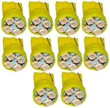 10x ampoule T10 W5W 12V 4LED SMD jaune veilleuses éclairage intérieur coffre