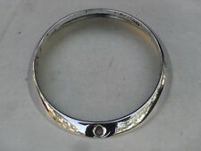 USED ORIGINAL PORSCHE 911 912 HEAD LIGHT LAMP CHROME TRIM RING 90163110205