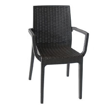 Poltrona sedia con braccioli caffè in resina per esterno bar ristorante DAFNE-C