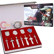 Legend of Zelda Metal Shield  Sword Blade Weapon Set -11pc Collectible Set