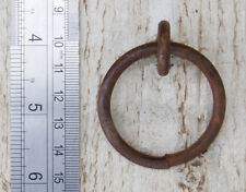 RUSTY IRON RING DROP HANDLE 47mm 8g Screw Thread  Old Reclaimed Retro