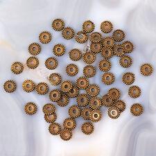 7x1mm Antique Brass Disc Spacer Finding 54pcs (JFD81)a
