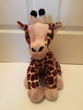 "BUILD A BEAR Brown BLACK Giraffe 2010 Safari JUNGLE 17"" STUFFED Plush Black Tip"