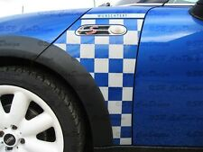Guardabarros-adhesivo Fender decal F. Mini Cooper r50 r53 Checkmate look one Works