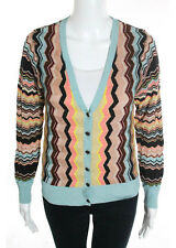 MISSONI FOR TARGET ORANGE LABEL Multi-Colored Chevron Striped Cardigan Sz M