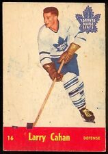 1955-56 PARKHURST HOCKEY QUAKER OATS #16 LARRY CAHAN EX+ TORONTO MAPLE LEAFS RC