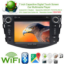 "7"" Android 5.1 Car DVD Player GPS Nav Radio BT RDS 3G For Toyota Rav4 2006-2011"
