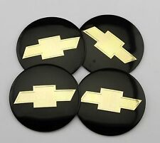 "4x56mm 2.2"" black Emblem Badge Decal Sticker Auto Wheel Center Hub Cap Chevrolet"