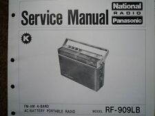 NATIONAL PANASONIC RF-909LB Portable Radio Service manual wiring parts diagram