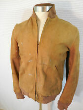 Vintage 60's California Sportswear Destroyed Suede Leather Jacket Sm Distressed