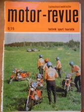 Tschechoslowakische MOTOR REVUE  5- 1975 * Eisspeedway-WM Salon Brüssel TRA P 46