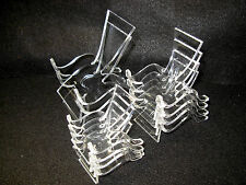 Set of 10 Clear Acrylic Plastic Display Stands,  2 Large, 4 Medium & 4 Small -