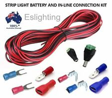 12V BATTERY WIRING CONNECTION KIT LED STRIP LIGHT CAMPING CABLE CONNECTOR WIRE