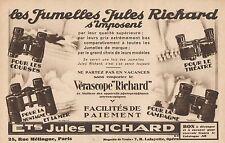 Y8787 Jumelles Jules RICHARD - Pubblicità d'epoca - 1931 Old advertising