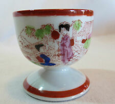 Red Geisha Girl Egg Cup Japan
