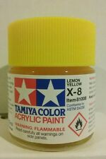 Tamiya acrylic paint X-8 Lemon Yellow 23ml.