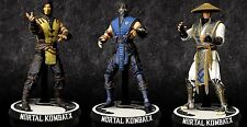 Mortal Kombat X Set of 3 4 Inch Action Figure Raiden Scorpion & Sub-Zero MEZCO