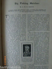 Big Course Fishing Matches Leeds Sheffield Association Angling Rare Article 1907