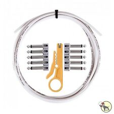 Lava Cable Tightrope Solder-Free Pedal Board Kit White 10' Cable Stripping Tool