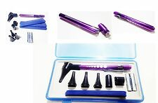 Purple Aluminum LED Light Mini Fiber Optic Pocket Ent Medical Otoscope Penlight