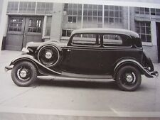 1933 FORD 2DR SEDAN WITH SIDEMOUNTS   12 X 18 LARGE PICTURE   PHOTO
