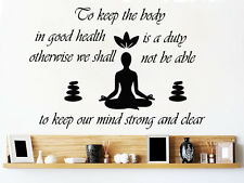 Wall Decals Quote Co Keep Decal Lotus Yoga Vinyl Sticker Home Decor MS89