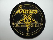 VENOM  WELCOME TO HELL ROUND  YELLOW    EMBROIDERED  PATCH